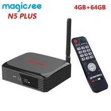 Magicsee N5 Plus Amlogic S905X3 Android 9.0 TV BOX 4G Ram 64G Rom 2.4/5G Dual WiFi Ethernet BT 4.0 Smart Box 8K HDR Set Top Box