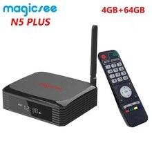 Magicsee Smart BOX N5 Plus, decodificador de señal con Amlogic S905X3, Android 9,0, 4 GB de Ram, 64 GB de Rom, WiFi Dual 2,4/5G, Ethernet, Bluetooth 4,0, 8K, HDR