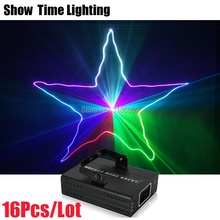16Pcs/Lot RGB Full Color Dj Laser Disco Effect Lighting Good Use For Xmas Party Show Christmas Cost-Effective