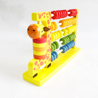 Cognitive Beaded Children's Educational Toys Multifunctional Large Wooden Giraffe Abacus Beads Around Arithmetic Rack gift music