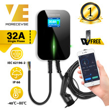 32A 1Phase APP Wifi EVSE Wallbox EV Ladegerät Elektrische Fahrzeug Ladestation mit Typ 2 Kabel IEC 62196-2 für MINI Cooper