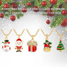 Christmas Snowman Fashion Necklace Santa Claus Bell Christmas Trees Alloy Pendant Christmas Gift new alloy gorgeous fashion christmas theme snowman cane santa claus color pendant bracelet bracelet christmas best gift jewelry