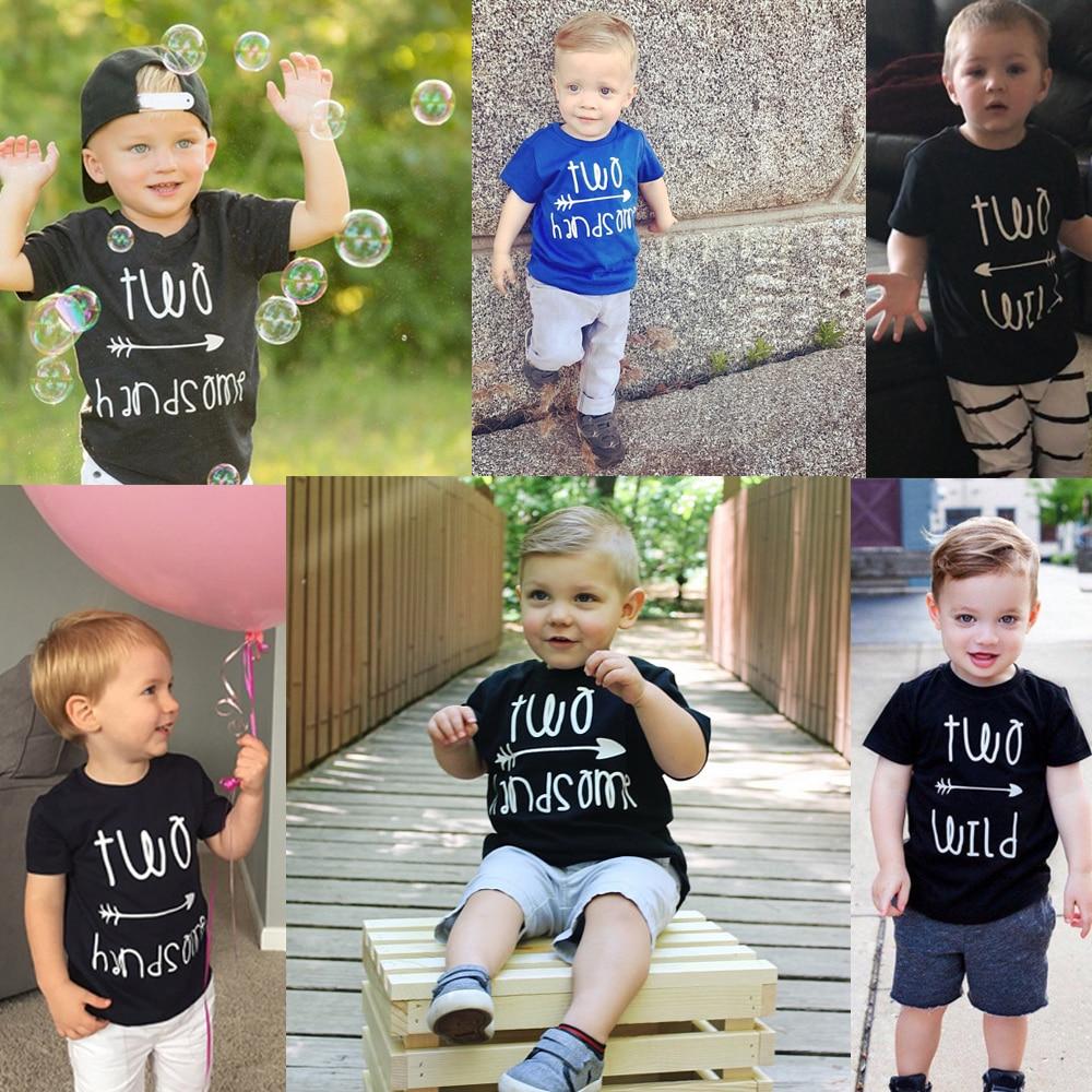 Two Wild Shirt 2nd Birthday Shirt Boy S 2nd Birthday Toddler Boy S Two Shirt Toddler 2nd Birthdaytwo Handsome Tops Tshirts T Shirts Aliexpress