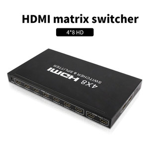HDMI матрица 4x8 HD 4K 2K HDMI переключатель сплиттер 3D 1080P 4 вход 8 Выход HDCP HDMI коммутатор сплиттер конвертер адаптер для ПК PS3