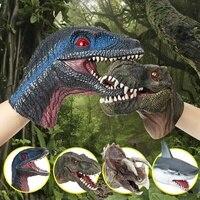 恐竜動物ソフトハンドパペットゴム現実的なジュラ紀恐竜サメのおもちゃ人形少年おもちゃ子供非毒性シミュレーションギフト