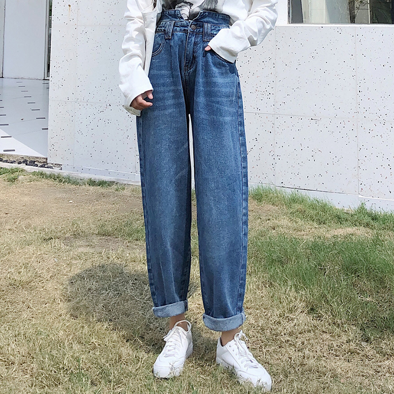 GUUZYUVIZ Boyfriend Jeans For Women High Waisted Denim Jean Femme Vintage Harem Pants Ladies Plus Size Loose Jeans Mujer 2019