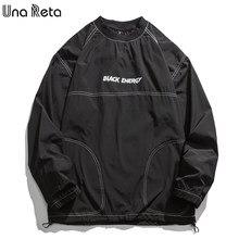 Unareta streetwear moletom masculino 2021 primavera outono novo pulôver roupas dos homens hip hop uma peça moletons