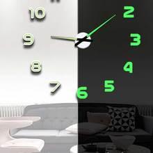Large Clock Stickers Watch Mirror Horloge Quartz Acrylic Luminous Modern New DIY Duvar