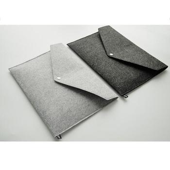2 szt Teczki na dokumenty A4 Folder z filcu Folder na dokumenty przenośny uchwyt z filcu dokumenty teczki torba na teczki (ciemnoszary i tanie i dobre opinie CN (pochodzenie)