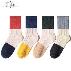 Calcetines de Navidad de color cachemir cómodos de moda de algodón lindo de alta calidad surtidos feliz invierno para mujeres