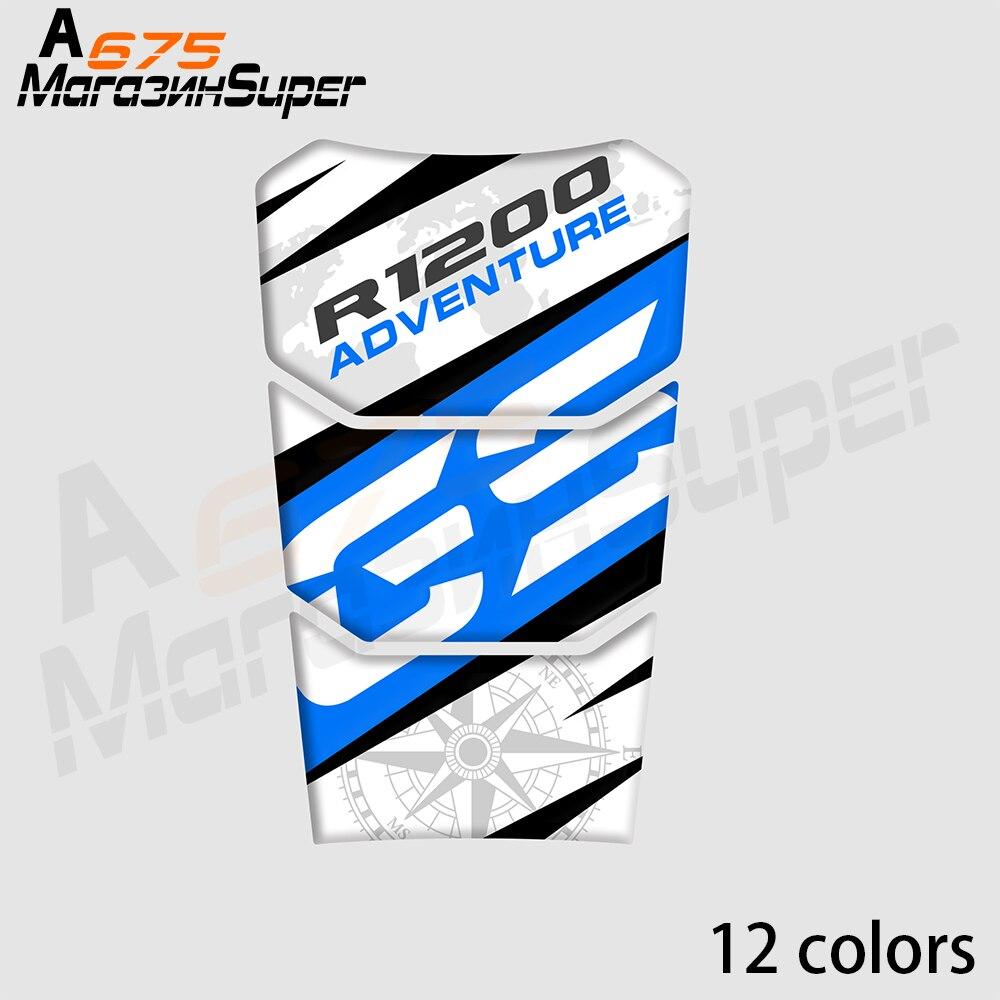 For BMW R1200GS 2014 2015 2016 2017 2018 3D Fish Bone Tank Pad MOTO Applique Sticker Gas Cap Pad Filler Protector Decal