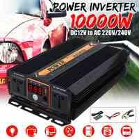 10000 Вт Солнечный Инвертор 12 В 220 В модифицированный ЖК монитор Синусоидальная волна дисплей трансформатор напряжения USB мощность Инвертор к...