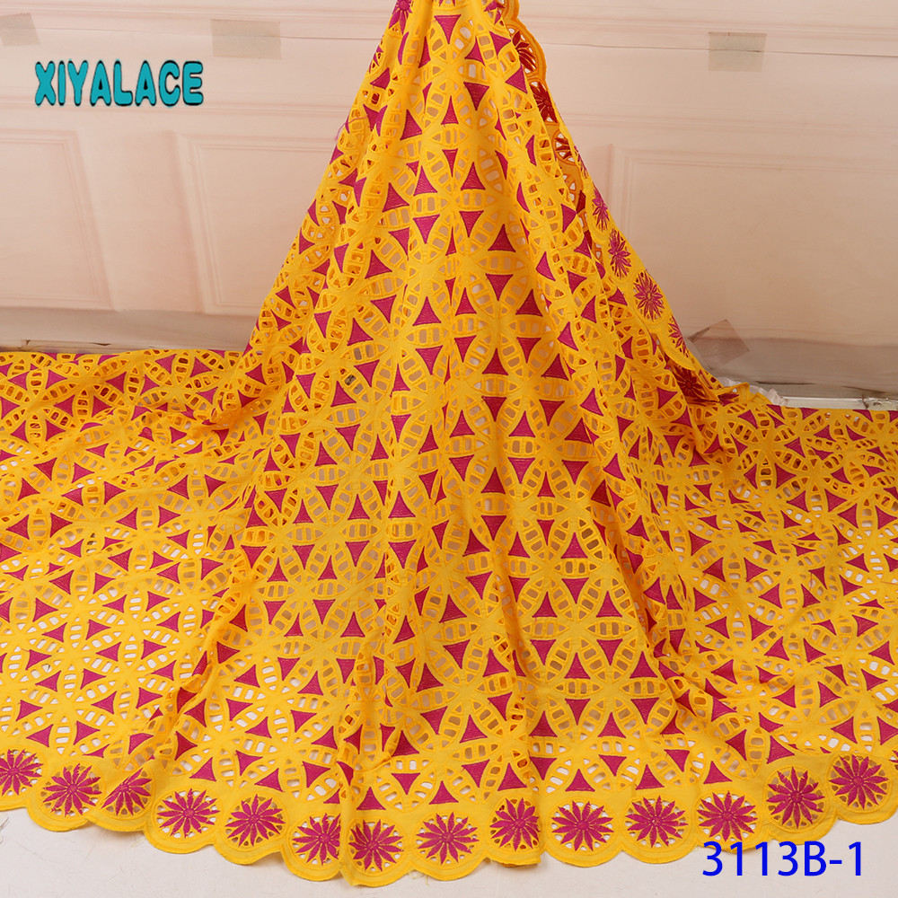 Latest French Beaded Lace Fabric African Lace Fabric Voile Lace For Wedding Party Floral Embroidery Nigerian Lace YA3113B-1