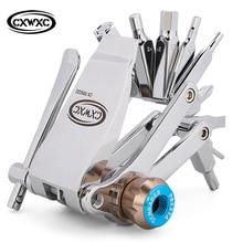 CXWXC 16 in 1 Multifunction Bicycle Repair Tools Kit Hex Spoke Cycling Screwdriver MTB Cycling Bike Repair Nitrogen use Tools