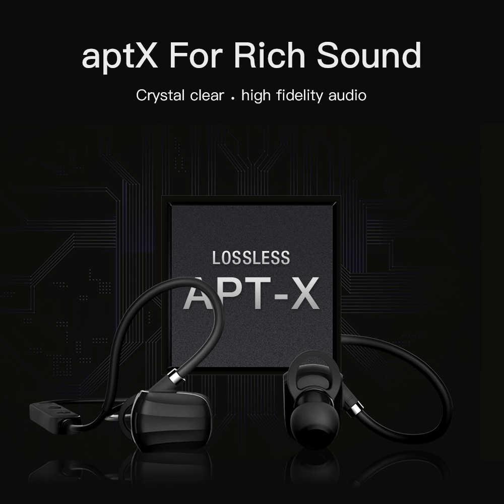 GGMM bezprzewodowe słuchawki Bluetooth słuchawki słuchawki sportowe IPX4 wodoodporne słuchawki z mikrofonem słuchawki super bass wsparcie APT-X
