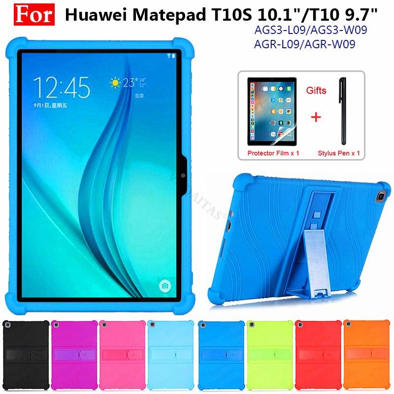 Новый чехол для Huawei Matepad T10S 2020 10,1 дюймов Чехол AGS3-L09/AGS3-W09 MatePad T10 10,1 Дети чехол подставка Силиконовый противоударный чехол