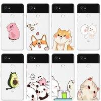 Ciciber-Fundas de TPU para teléfono móvil, funda trasera de silicona con diseño de Animal, gato, perro, para Google Pixel 3, 2 XL, Pixel 3a, 4 XL