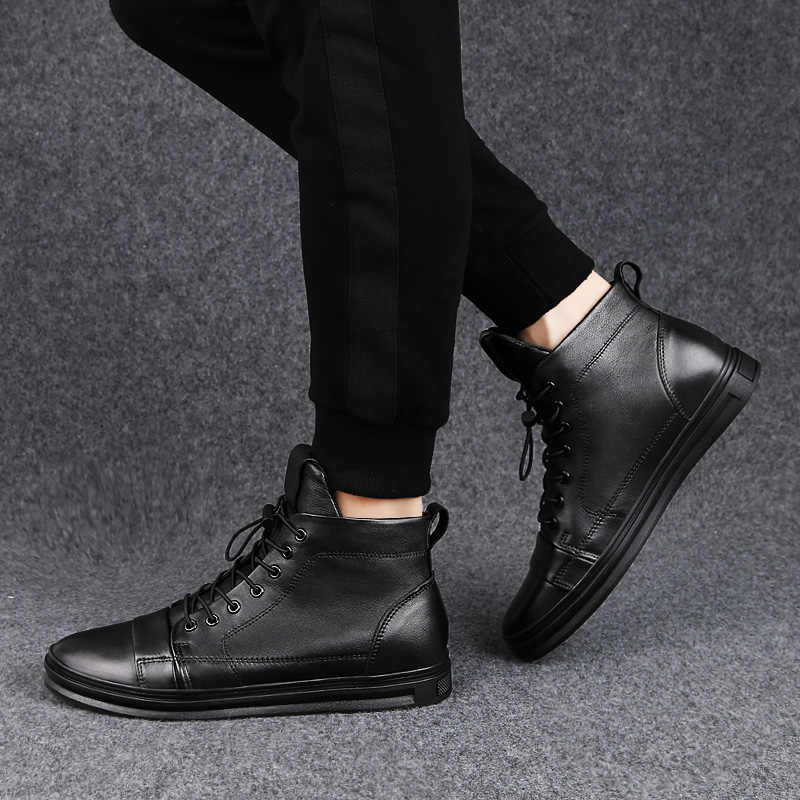 Zapatos masculinos, Zapatillas altas para adultos, zapatos de cuero genuino de diseñador, zapatos de lujo para hombres, zapatos para hombre, Cuir Luxe, talla grande 46 12