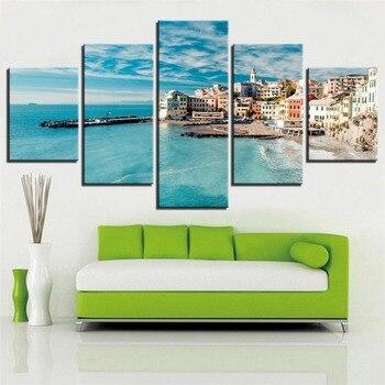 Cuadros de arte de pared HD, impresiones lienzados, 5 piezas de pintura...