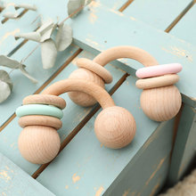 1PC Baby Rattle Toys Half Ring Beech Toys Silicone Rings Rodent Musical Chew Play Gym Montessori Stroller For Children Products