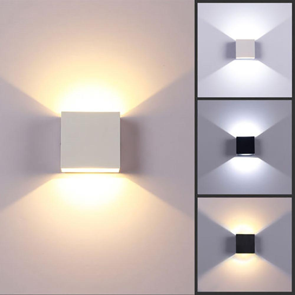 Modern 6W <font><b>LED</b></font> <font><b>Wall</b></font> Light Aluminum Shade Lamp <font><b>Spot</b></font> Lighting Home Bedroom Decoration Light CSV image