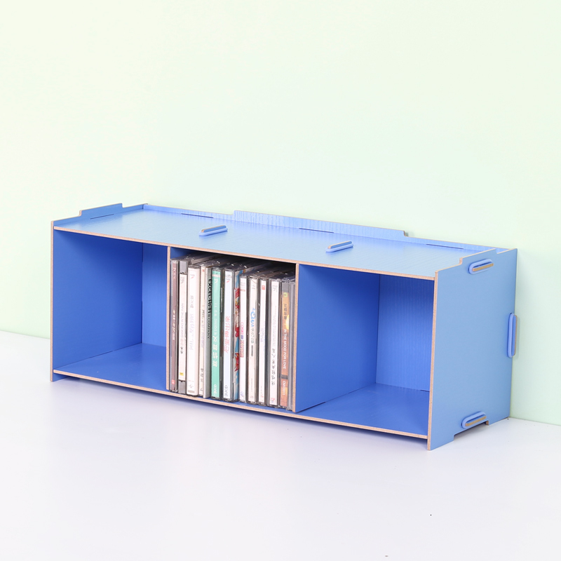 Wooden Large Capacity Stackable CD Shelf Creative  Style CD Storage Rack