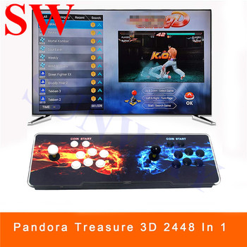 2448 in 1 3D Arcade Jamma Game Console Cabinet Joystick Buttons Arcade Machine with 134 3D Games VGA/HDMI Output HD for 2Player