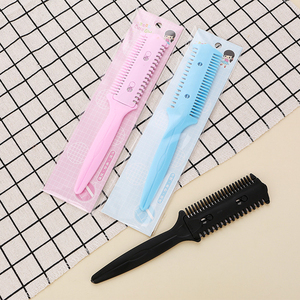 Image 5 - Hot Barber Hair Razor Comb Scissor Tools Bangs Brush Hairdressing Trimmers Hair Shaving Blades Cutting Thinning Beauty Styling