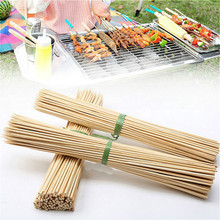 Wooden Bbq Skewers Long-Sticks Bamboo Barbecue-Party Grill Camping Meat-Tool Food Disposable