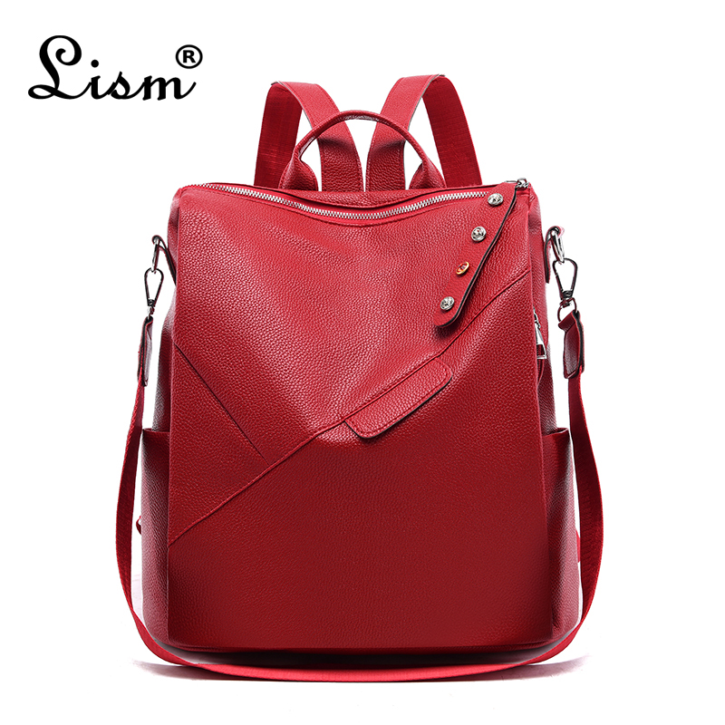 Luxury Backpack High Quality Leather Student Bag Fashion Diamond Bag Large Capacity Multifunctional Travel Bag