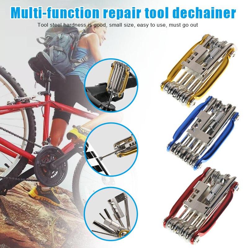 11 In 1 Multi Function Bicycle Tool Kit Set Bike Cycling Spanner Wrench Repair FKU66