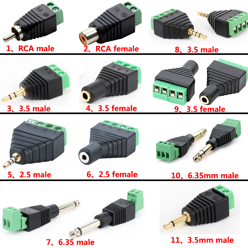 3.5mm Mono Female to 3.5mm Mono Female Audio Connector Coupler LOT of 2
