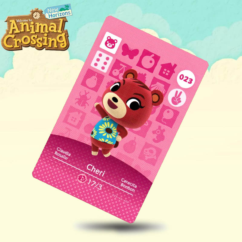 023 Cheri  Animal Crossing Card Amiibo Cards Work For Switch NS 3DS Games