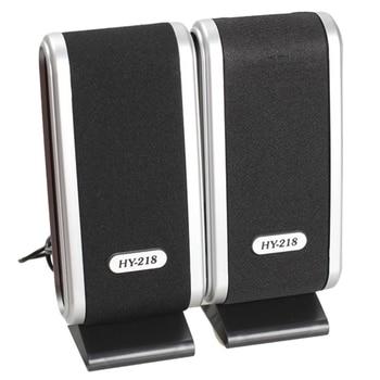 2 Pcs USB Computer Speakers Portable Speaker Stereo 3.5mm with Ear Jack for Desktop PC Laptop 1