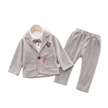 New Spring Autumn Children Gentleman Clothes Baby Boys Girl T Shirt Suit Pants 3Pcs/sets Kids Infant Clothing Toddler Sportswear 2017 boys clothing sets autumn spring shirt vest pants children wedding clothes kids gentleman leisure handsome blouse suit