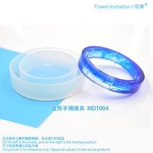 Купить с кэшбэком New arrival_Transparent Silicone Round Bracelet Mould For Resin Real Flower DIY Mold Bangle Mould MD1004