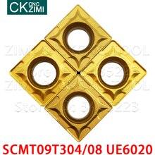 SCMT09T308 UE6020 SCMT09T304 UE6020 Hartmetall Einfügen Externe Drehen Werkzeuge CNC Metall drehmaschine werkzeuge hohe qualität SCMT 09T3 für stahl