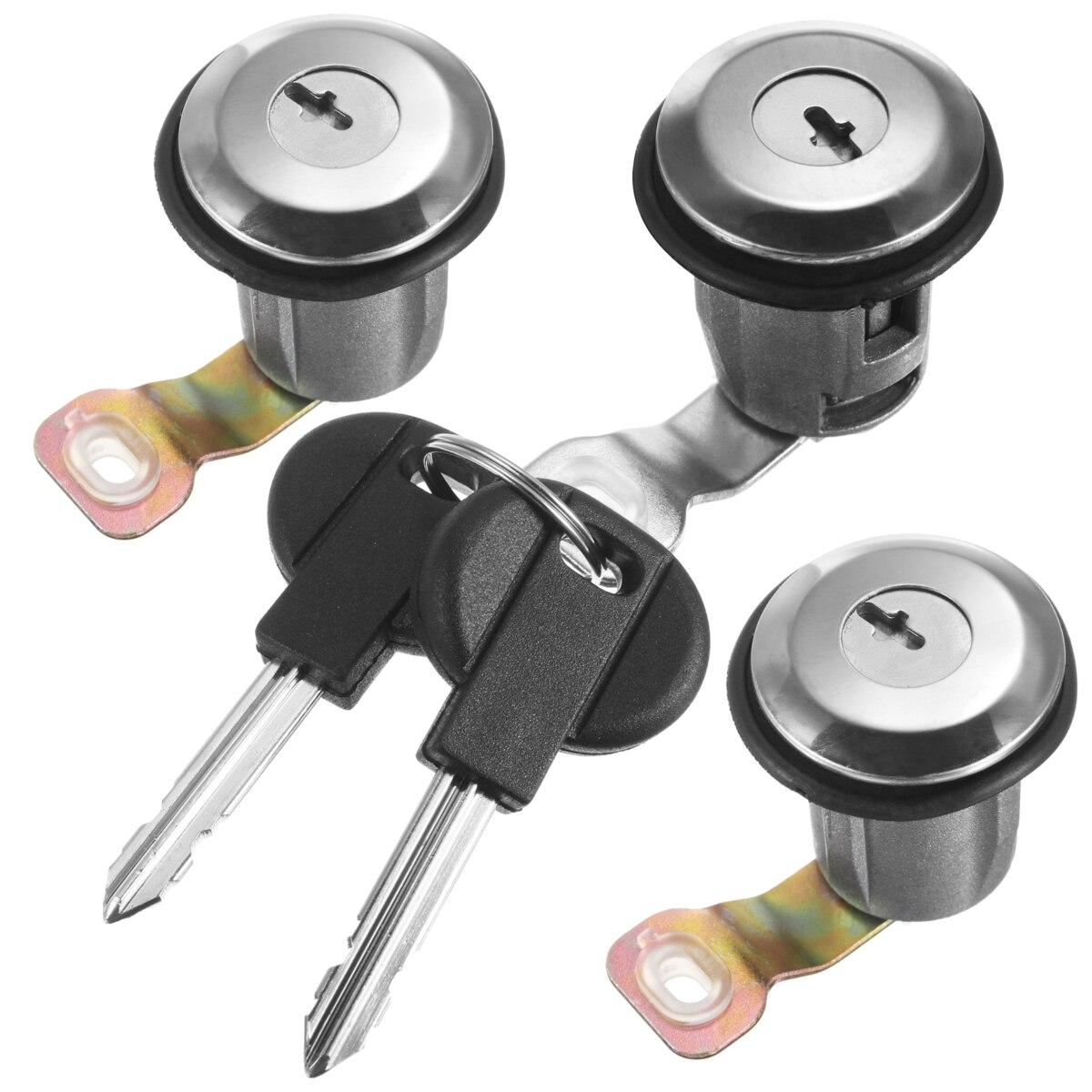 Durable and long lifetime Three Barrel Door Lock Cylinders Set with Two Keys For Peugeot Partner Citroen Berlingo Xsara
