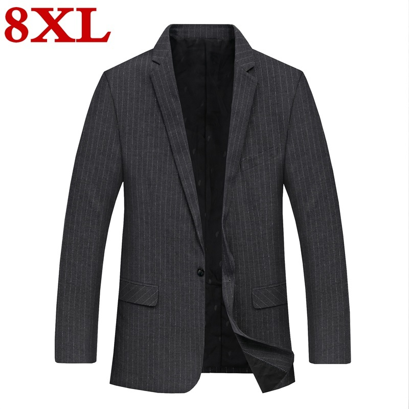 Big Plus Size 8XL 7XL 6XL New Casual Suit  For Men High Quality Spring And Autumn Suit Jacket Men Jackets And Stripe Blazers