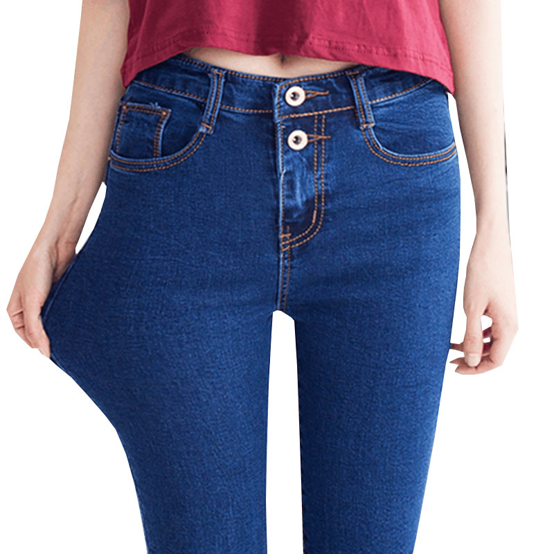 2019 New Fashion High Waist Skinny jeans Women Pencil Pants Cotton Slim Elastic Womens Long Casual Denim Jeans for women Q201