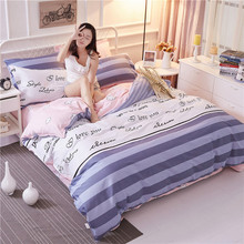 Yimeis Bed Linen Anime Plaid Beddings And Bed Sets Child Blue Comforter Bedding Sets BE45229(China)