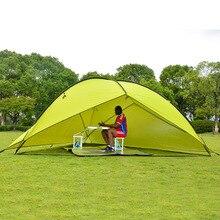 2 стены открытый большое пространство треугольник солнцезащитный тент Кемпинг палатка несколько семья пляж навес тент есть 3 цвета на выбор