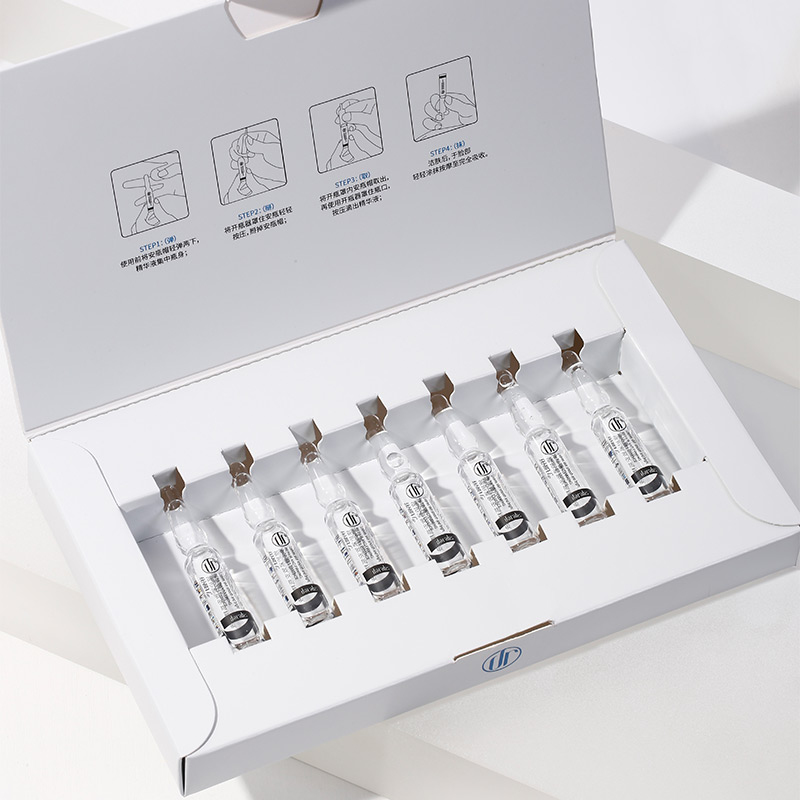 Daralis 7PCS Hyaluronic Acid Ampoule Face Serum Shrink Pores Nicotinamide Essence Whitening Anti-Aging Wrinkle Facial Skin Care