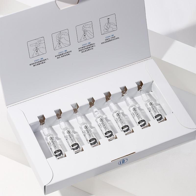 Daralis 7PCS Hyaluronic Acid Ampoule Face Serum Shrink Pores Nicotinamide Essence Whitening Anti-Aging Wrinkle Facial Skin Care