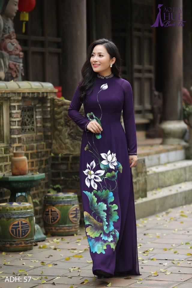 Aodai Vietnam Clothing Cheongsam Aodai Vietnam Dress Vietnamese Traditionally Dress Long Sleeves Cheongsam Improved Purple