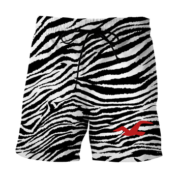 Summer Shorts Men Fashion Brand Boards 3d Animal Leopard all over Print Zebra Stripe Casual Male Oversize Board