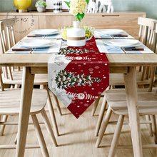 Natal de malha pano criativo natal chá mesa corredor decorativo toalha 2021 feliz natal decoração para casa mesa cobrir