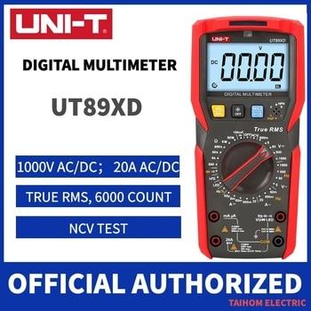 цена на UNI-T UT89XD Professional Digital Multimeter True RMS NCV 20A Current AC DC Voltmeter Capacitance Resistance Tester