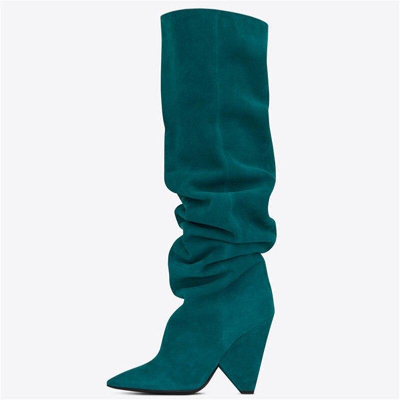 Estilo marca de moda botas altas por encima de la rodilla Sexy de microfibra de cuero caliente de noche Club de baile botas de baile - 3