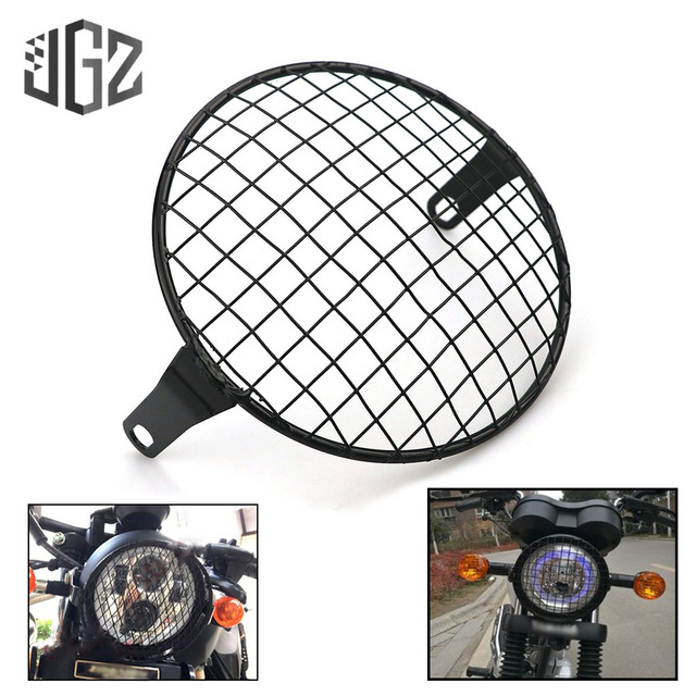 7 inch Motorcycle Vintage Headlight Protector Aluminum Round Grill Headlamp Net Cover For Chopper Yamaha Benelli Ducati Bobber